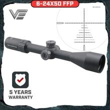 Вектор Оптика стрелок 6-24x50 FFP тактический прицел охота боковым фокусом мин 10Yds 1/10MIL регулировки. 30 06 Win