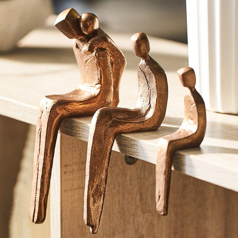 Фигурки семьи любви в скандинавском стиле, аксессуары для домашнего декора из смолы, свадебный подарок, Офисная Книжная полка, украшение для стола|Статуэтки и миниатюры|   | АлиЭкспресс - Фигурки для декора в сканди-стиле