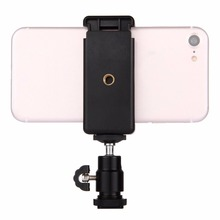 PULUZ Hot Shoe Tripod Head+Tripod Stand Clamp Universal 360 Degrees Stable For Smartphones Black
