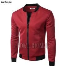 New Wine Red Jacket Men 2017 Spring Fashion Design Mens Slim Fit Zipper Baseball Jacket Casual Brand College Varsity Jacket Xxl женская куртка brand new slim o 658052 jacket