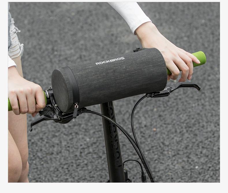 Small bicycle handlebar bag front bar for small bike