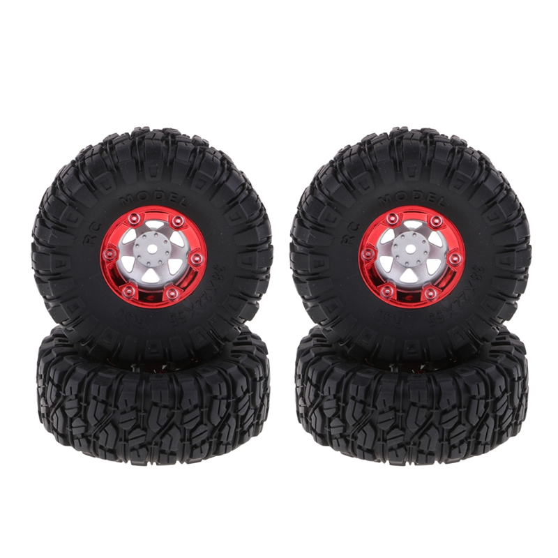 1:12 <font><b>RC</b></font> Truck Crawlers 100mm Rubber Tires Tyres with <font><b>Wheel</b></font> Hex 4X for Wltoys 12428 12423 FY01 FY02 FY03 image