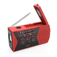 ABS USB Rechargeable Solar Radio SOS Alarm Camping Multifunctional Emergency Reading Lamp Led Weather With Flashlight Hand Crank 1 x hand crank operated emergency alarm siren sound rating 110db abs