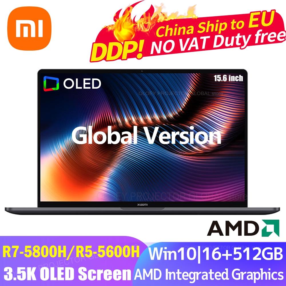2021 Xiaomi Laptop Pro15 Ryzen AMD R7-5800H/R5-5600H 3.5K OLED Screen 15.6Inch 16GB+512GB 100%sRGB Win10 Office Notebook PC 1