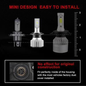 Image 2 - 2 Chiếc H1 LED 13000LM Mini Bóng Đèn Pha H7 LED H4 H8 H9 H11 Đèn Pha Bộ 9005 HB3 9006 HB4 9012 Tự Động Đèn LED Ánh Sáng