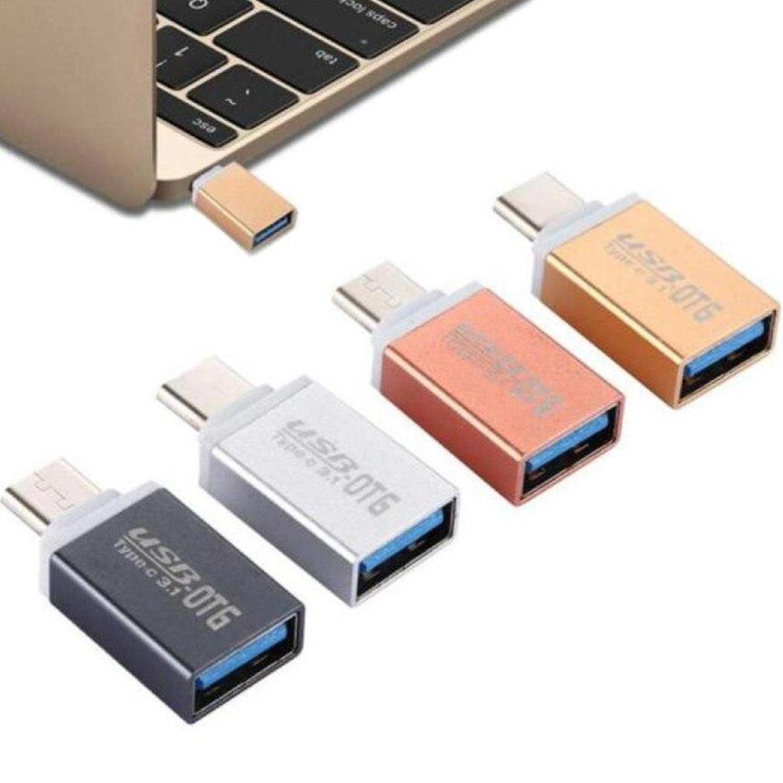 2019 Digital de Dados USB Macho para USB 3.1 Tipo-C Adaptador Fêmea cabo de Dados OTG para Samsung Tipo C Móvel carregador de telefone Mini USB