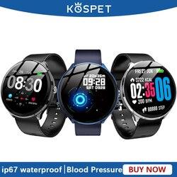 KOSPET V12 inteligentny zegarek mężczyźni wodoodporny pulsometr ciśnienie krwi Sport kobiety Smartwatch opaska na rękę Fitness Tracker dla dziecka