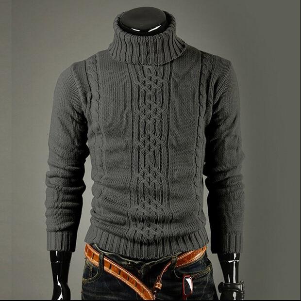 Men's Knitting Unlined Upper Garment Lapel Long Sleeve Pullover Men's Wear Will Code Sweater Male