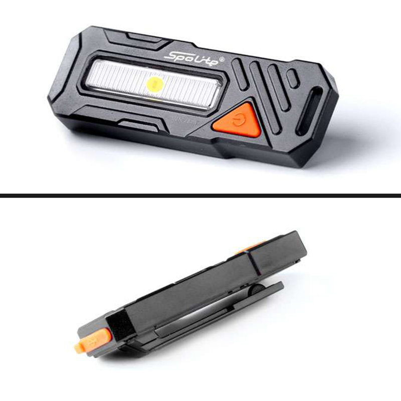 XANES TL06 150LM COB LED 6 Modes Bike Taillight Waterproof USB Charging Warning Light Buckle For Cycling Camping Torch Lantern
