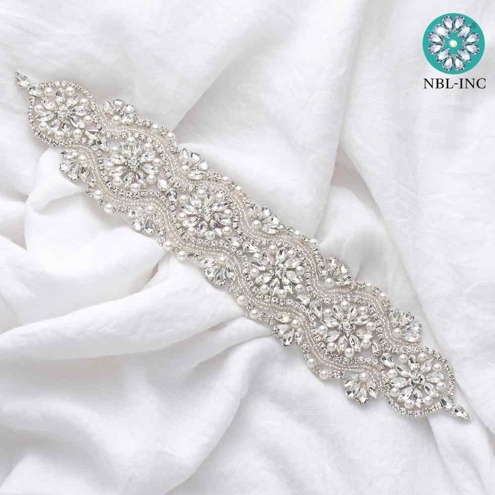 1 PC Bridal Belt Silver Rhinestone Wedding Belts Crystal Sash For Wedding