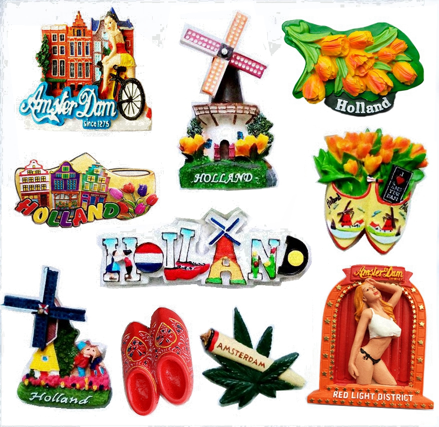 Netherlands Amsterdam Tulip Windmill 3D Fridge Magnets Tourism Souvenirs Refrigerator Magnetic Stickers Home Decortion