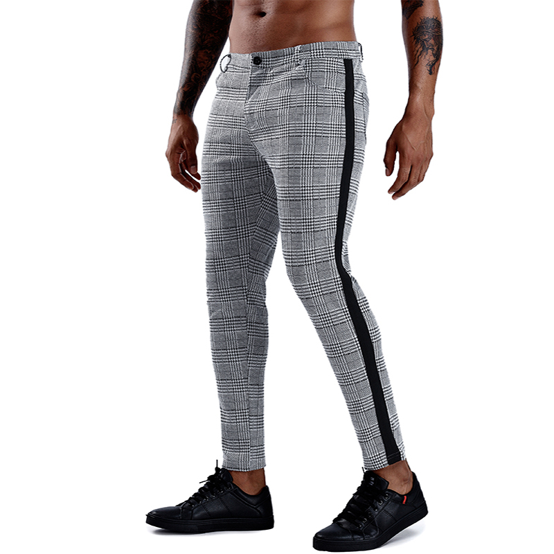 Fashion Men Pants Streetwear Hip Hop Skinny Joggers Chinos Pants Slim Fit Trousers Men Gym Trousers Men Sportswear