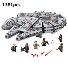 El despertar de la fuerza Star Set Wars Series Compatible 79211 Halcón Milenario figuras modelo Juguetes de bloques de construcción para niños