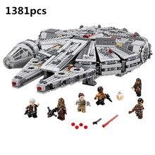 Przebudzenie mocy Star Set Wars seria kompatybilny 79211 Millennium Falcon figurki klocki modelarskie dla dzieci