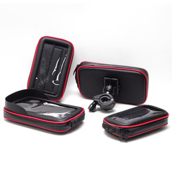Dostosowany wodoodporny uchwyt na torebkę rowerowy uchwyt na telefon komórkowy 360 stopni obrotowy zewnętrzny ekran dotykowy wodoodporny uchwyt torby na