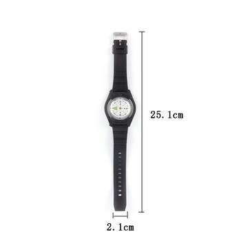 2018 High Quality Hiking Watch Black Band Tactical Wrist Compass For Military Outdoor Survival Camping 3