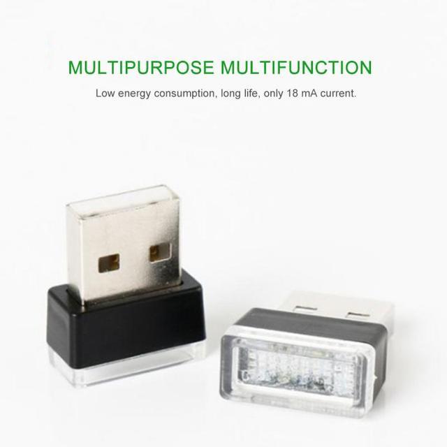 Car Interior Ambient Light 7 Colors LED Neon Mini Usb Atmosphere Lamp  Auto Interior Decorative Atmosphere Light Car Goods 4