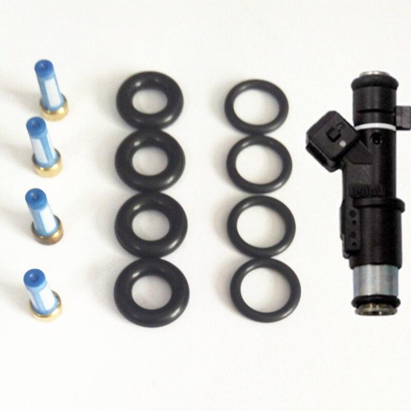 Atacado 4 conjuntos kits de reparação injector combustível para peugeot 206 307 406 407 607 806 807 especialista 2.0/16 v 1984e2 (AY-RK901)