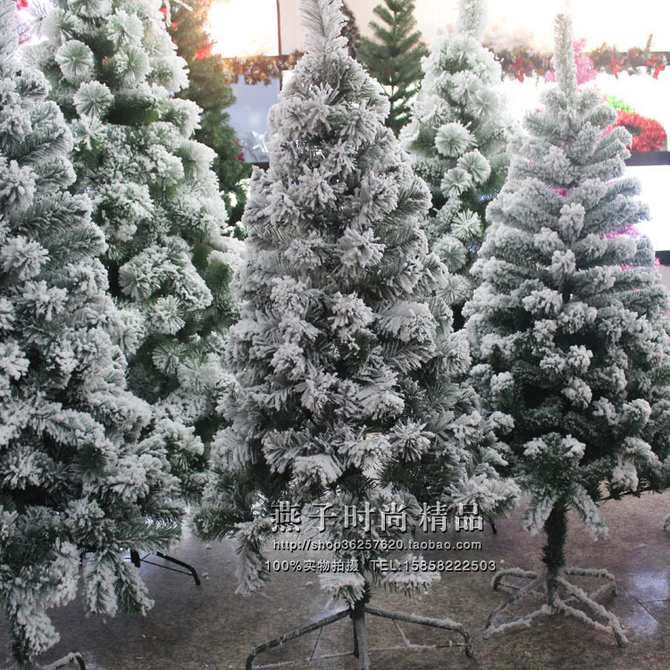 Combo 1.51.82.12. 4 M Christmas Cedar White 3 M Acrylic Flocked Christmas Tree Model OPP Bag