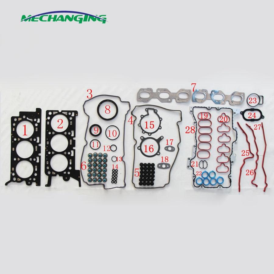 Engine Full Gasket Set Bearings Rings Fits 2000 Mazda MPV 2.5L DOHC 24v DURATEC