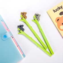 New 1pcs 0.5mm Cute Cartoon Fun Koala black Gel ink Roller Ball Point Pen Gifts
