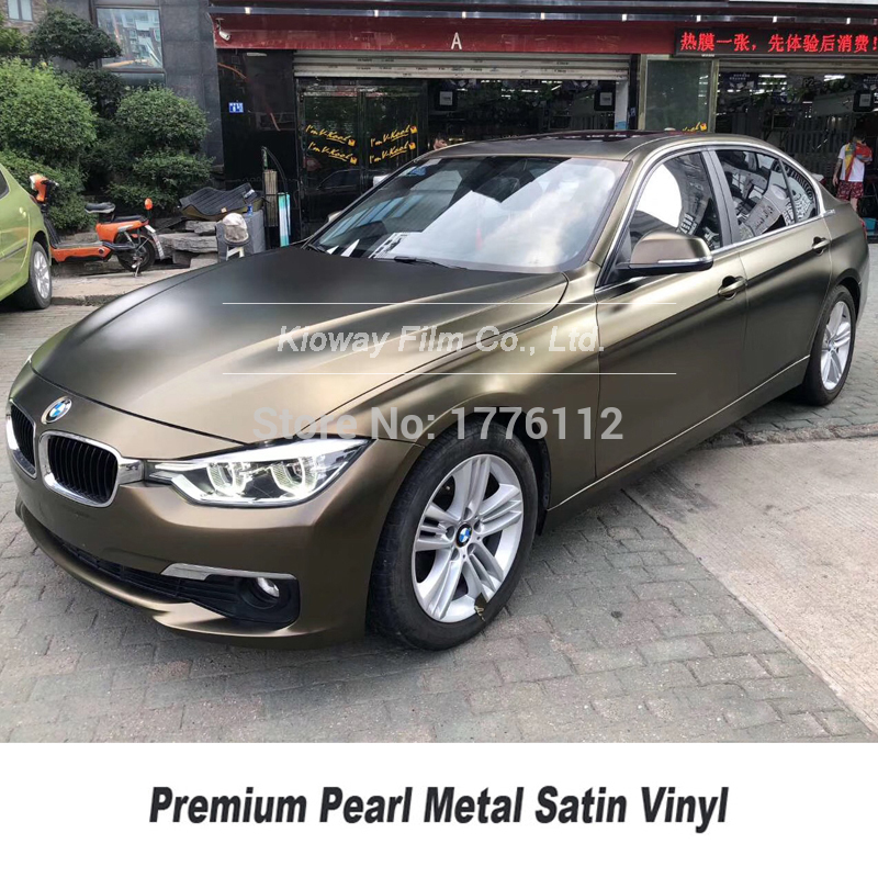 *Premium Matte Metallic Chameleon Black Gold Sticker Decal Car Vinyl Wrap Film
