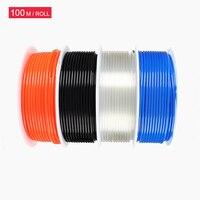 Free shipping PU8*5 PU Hose 100M/Roll Tube compressor hose pneumatic 8mm hose for compressor pneumatic tube Blue Air hose