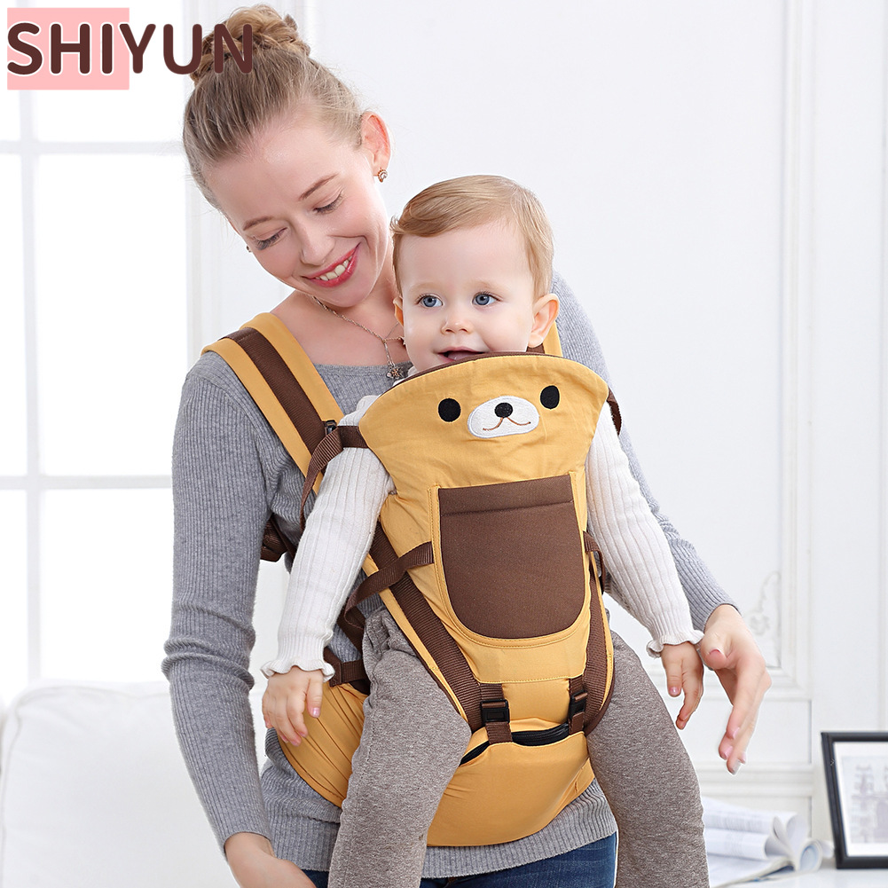 SHIYUN 0-36M Baby Carrier Kangaroo Waist Stool Child Hipseat Tool Baby Holder Sling Wrap Backpack Baby Travel Activity Gear SY41