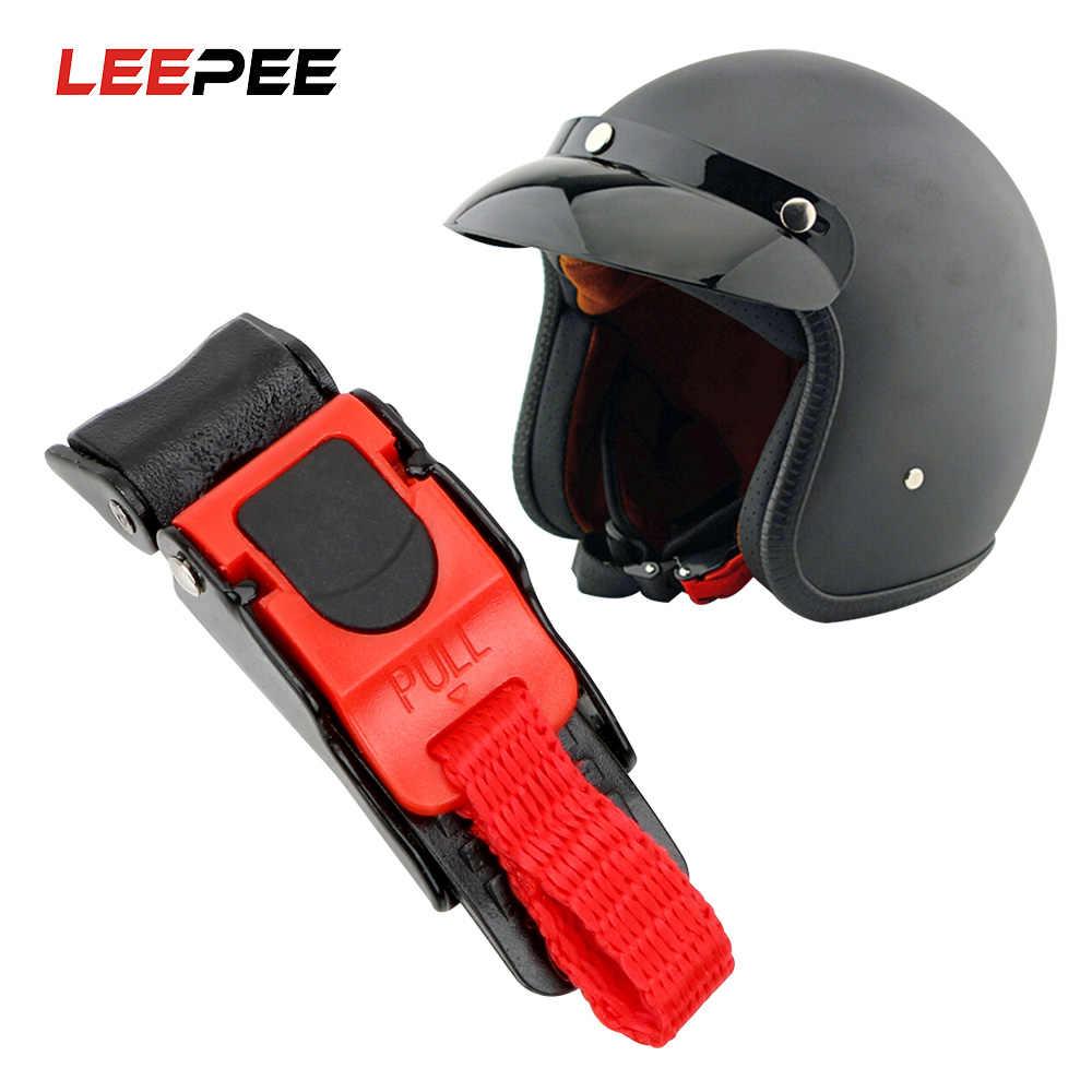LEEPEE kask pasek klip szybkie klamry bezpieczeństwo Quick Release kask zamek klamrowy na samochód wyścigowy motocykl rower kask
