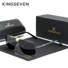 KINGSEVEN NEUE Mode männer Gläser Polarisierte Angeln Fahren Sonnenbrille Marke Männer Frauen edelstahl Material Gafas De Sol
