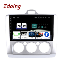 "Idoing 9""2.5D 4G+64G 8 Core Car Multimedia NO 2 Din Radio Player GPS Navigation Android 10 Head Unit ForFord Focus 2 3 Mk2/Mk3"