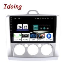 """Idoing 9 """"2.5D 4G + 64G Đa Phương Tiện Không 2Din Đài Phát Thanh Người Chơi Đồng Hồ Định Vị GPS Android10 Đầu Đơn Vị dành Cho Xe Ford Focus 2 3 Mk2/Mk3 2004 2012"""