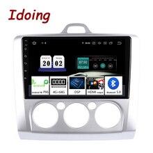 """Idoing 9 """"2.5D 4G + 64G araba multimedya hiçbir 2Din radyo çalar GPS navigasyon Android10 kafa ünitesi ford Focus 2 için 3 Mk2/Mk3 2004 2012"""