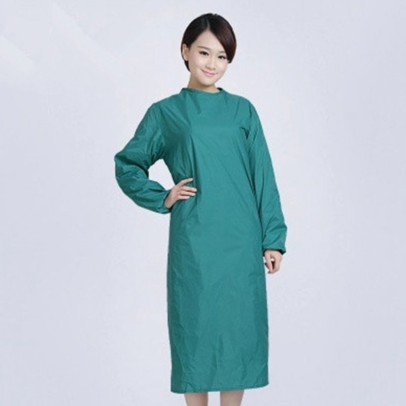 Waterproof Lab Coats Unisex Long Sleeve Pure Color Wear Resistant Breathable High Quality Medical Hospital Doctor Operative Coat