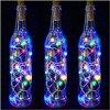 10 pièces solaire 2M LED en forme de liège 10 LED nuit fée chaîne lumière Kork Solarbetrieben Licht bouteille de vin lampe fête célébration