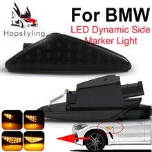 2 шт. светодиодный динамический боковой маркер, сигнальный светильник, последовательный мигалка, светильник для BMW X5 E70 X6 E71 E72 X3 F25, янтарная индикаторная лампа