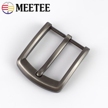 Meetee 1/2pcs 40mm Alloy Mens Belt Buckle High Quality Metal Pin Cowboy Head DIY Casual Jeans Leather Decor Accessories
