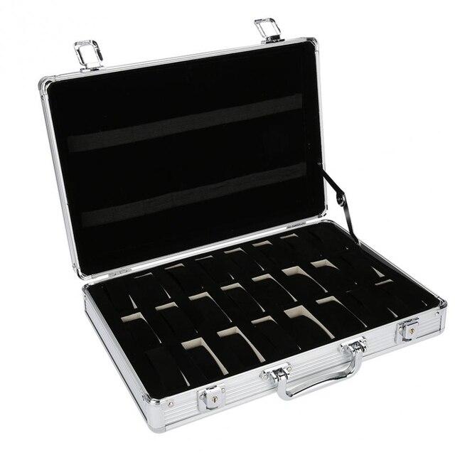 24 그리드 알루미늄 가방 케이스 디스플레이 스토리지 박스 시계 스토리지 박스 케이스 시계 브래킷 시계 시계 시계 박스 프로모션