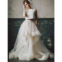 Elegant Layered Ivory Wedding Long Skirt for Women Ruffles Draped Floor Length Maxi Skirt for Evening Party Bride Skirts 2020