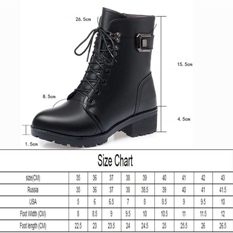 AIYUQI yarım çizmeler kadınlar kış yeni % 2021 yün sıcak kaymaz bayan botları büyük boy 41 42 43 kış kar çizmeler