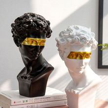 Bust Sculpture Masked Resin Statue Home-Decoration-Head Abstract Mini Creativity Modern