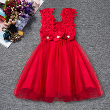 Карнавальный комплект одежды для новорожденных девочек, платье-пачка для первого дня рождения, детское карнавальное кружевное платье с цветами, одежда для крещения