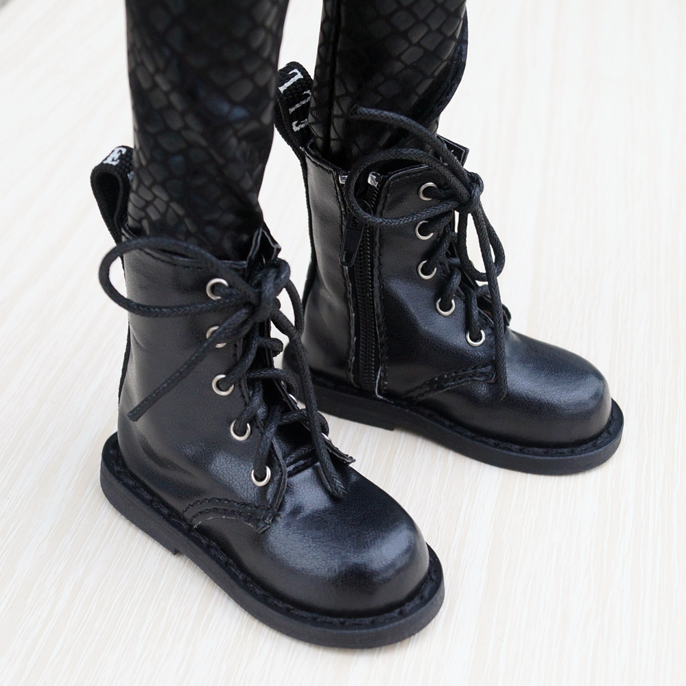 BJD SHOES Black Boots Shoes Flates For 1/3 24
