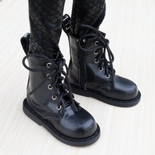 """BJD SHOES Black Boots Shoes Flates For 1/3 24"""" Tall Male BJD doll SD DK DZ AOD DD Doll Free shipping HEDUOEP"""