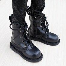 """BJD ayakkabı siyah çizmeler ayakkabı Flates 1/3 için 24 """"uzun boylu erkek BJD bebek SD DK DZ AOD DD bebek ücretsiz kargo HEDUOEP"""