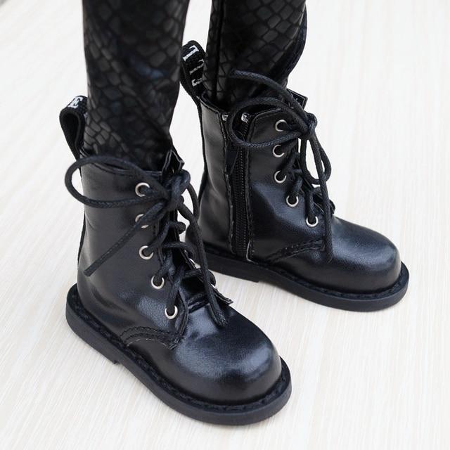 "Zapatos de BJD para hombre, botas negras, para 1/3 Flates, 24 ""de altura, muñeca BJD SD DK DZ AOD DD, envío gratis, hedooep"