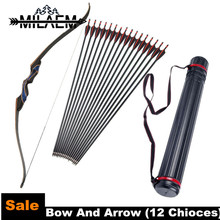 12 Choice Bow And Arrow Set 56 Inch 20/25/30/35/40/45/50 lbs Recurve With Pcs Arrows Shooting Hunting Equipment