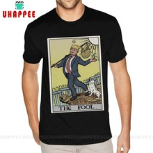 Funny Anti Trump T Shirt The Fool Tarot Card Latest Tee Shirts Over Size Boy Printed Graphic T-shirts(China)
