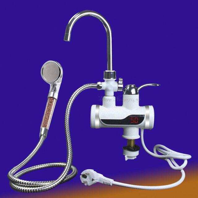 เครื่องทำน้ำอุ่น 3000Wห้องน้ำก๊อกน้ำหน้าจอไฟฟ้าเครื่องทำความร้อนLcdก๊อกน้ำไม่มีร่อง