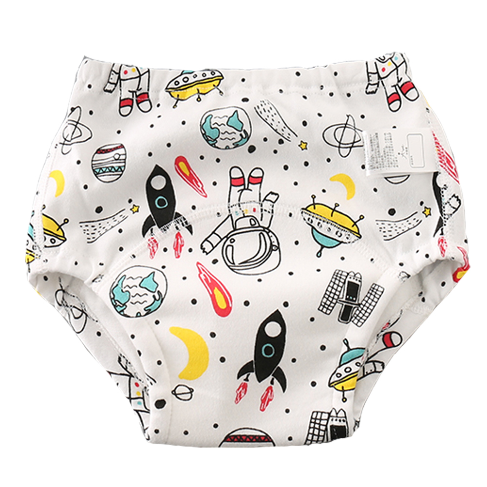 Waterproof Toddler Training Pants 6 Layers Cotton Potty Training Underwear For Baby Boys Girls Unicorn Washable Diapers 4 Sizes